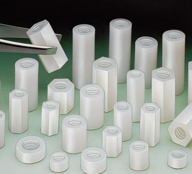 Round Nylon Threaded Spacers